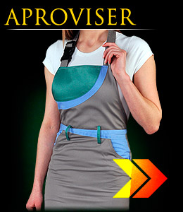 APROVISER - Safety apron, frontal, for women.