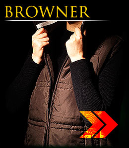 BROWNER -  Insulated women`s vest.