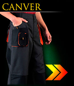 CANVER - Protective waist-long trousers.