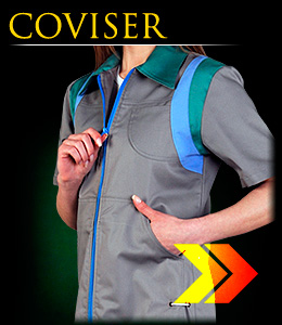 COVISER - short-sleeved safety apron for women.