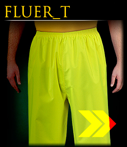 FLUER_T - Rain trousers with reflective stripes.