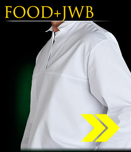 FOOD+JWB - Protective blouse, buttonless.