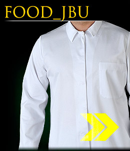 FOOD_JBU - Protective blouse with long sleeves, buttoned.