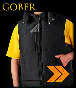 GOBER - Sleeveless garment which ensures protection against cold.