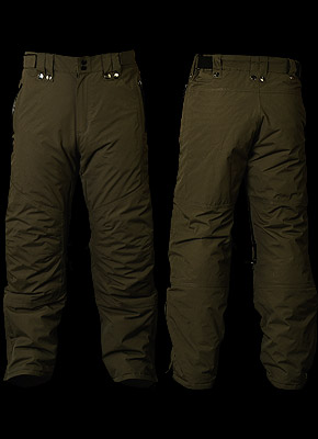 GOLTER - Protective trousers warmed with polar with unfastened braces.