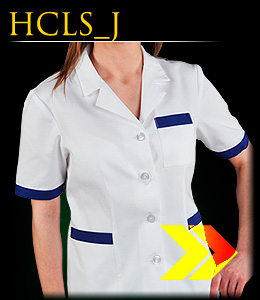 HCLS_J - Short-sleeved safety blouse for women.