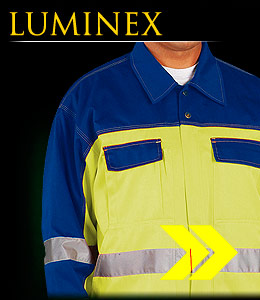 LUMINEX - Protective jacket made of fluorescent polyester fabric.
