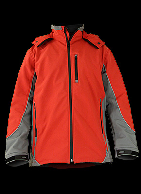 MONACO - Safety jacket made of SOFTSHELL material with reflective belts.