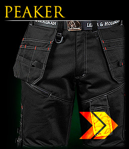 PEAKER - Safety trousers which reach to the waist; 2 in 1 with undoable legs.