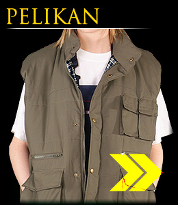 PELIKAN - Sleeveless garment insulated with flannel.