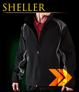 SHELLER - Protective jacket, made of SOFTSHELL fabric.