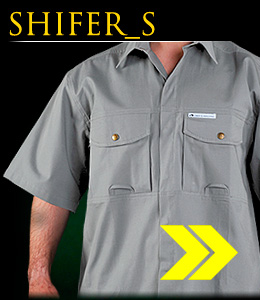 SHIFER_S - Cotton shirt, short-sleeved.