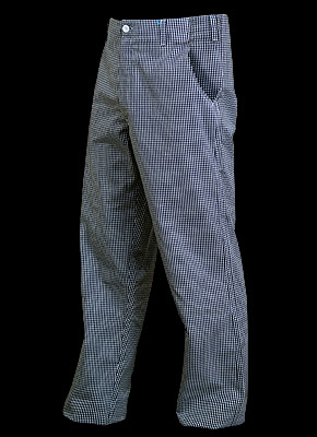 "TROFER - Waist high cook trousers of a ""Chef's Kitchen"" line."