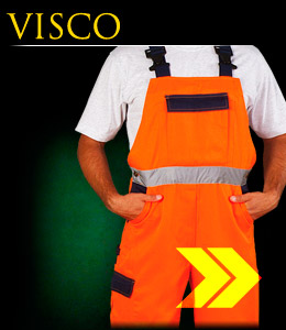 VISCO - Dungarees made of the fluorescent fabric.