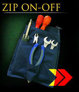 ZIP_ON_OFF_C_G - Pocket for tools made of cordura